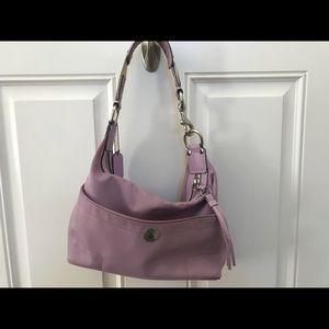 Coach Lavender Nylon Shoulder Bag